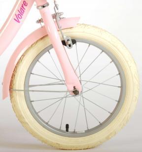 Vélo d'enfant Volare Ashley - Filles - 16 pouces - Rose - 95% assemblé