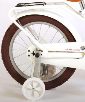 Volare Liberty Bicyclette pour enfants - Filles - 16 pouces - Blanc - 95% assemblé
