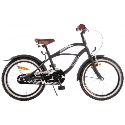 Volare Black Cruiser Vélo pour enfants - Garçons - 18 pouces - Noir - assemblé à 95%