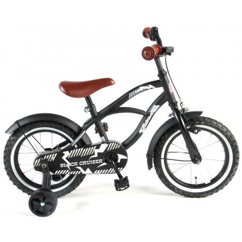 Vélo enfant Volare Black Cruiser - garçon - 14 po - noir - assemblé à 95 %