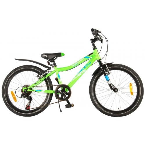 Volare Blade Vélo pour enfants - Garçons - 20 pouces - Vert - Monté à 95% - Shimano 6 vitesses
