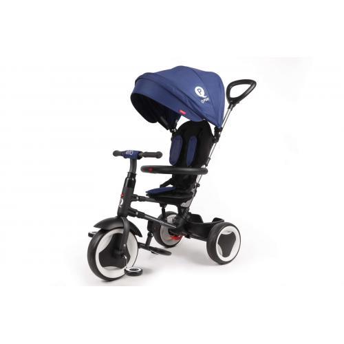 QPlay Tricycle Rito 3 en 1 - Garçons et filles - Bleu - Deluxe