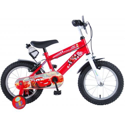 Vélo enfant Disney Cars - garçon - 14 po - rouge - 2 leviers de frein