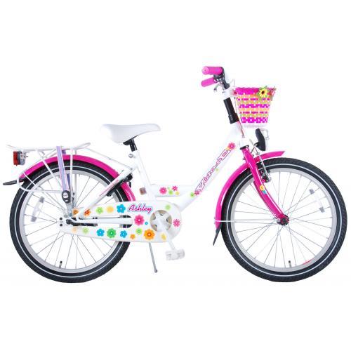 Volare Ashley Bicyclette enfants - Filles - 20 pouces - Blanc/Rose - assamblé à 95%
