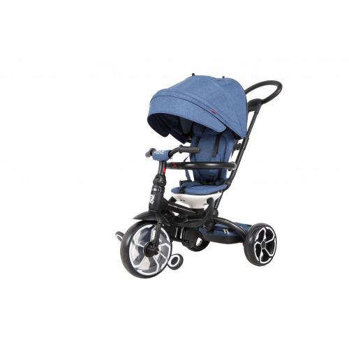 Qplay Tricycle Prime 4 en 1 Garçons et Filles - Bleu