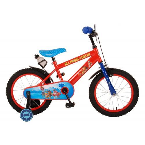 Vélo pour enfants Paw Patrol - Garçons - 16 pouces - Rouge Bleu