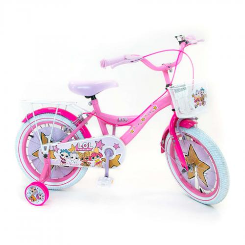 LOL Surprise Vélo enfant - Fille - 16 po - Rose - 2 leviers de frien