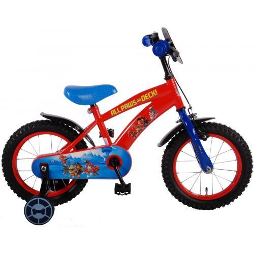 Vélo enfant Paw Patrol - garçon - 14 po - rouge bleu - assemblé à 95 %