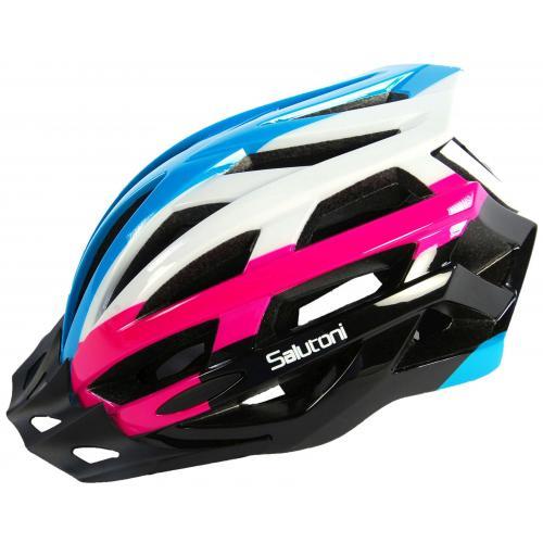 Casque de vélo pour femmes Salutoni Bleu Blanc Rose 54-58 cm