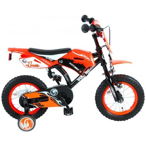 Vélo moto enfant Volare - garçon - 12 po - orange - assemblé à 95 %