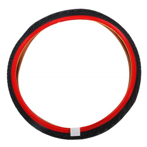Buitenband 24 inch rood zwart
