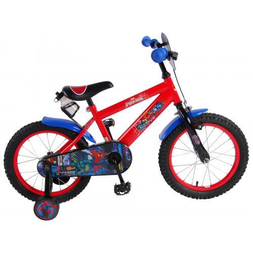 Vélo pour enfants Ultimate Spider-Man - Garçons - 16 pouces - Rouge Noir