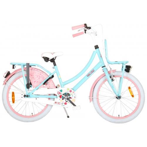 Volare Ibiza Vélo enfants - Filles - 20 pouces - Bleu/Rose -  assemblé à 95%