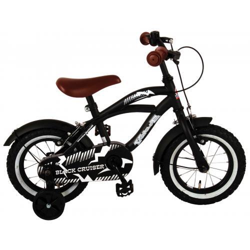 Vélo enfant Volare Black Cruiser - Garçons - 12 po - Noir - 2 leviers de frein
