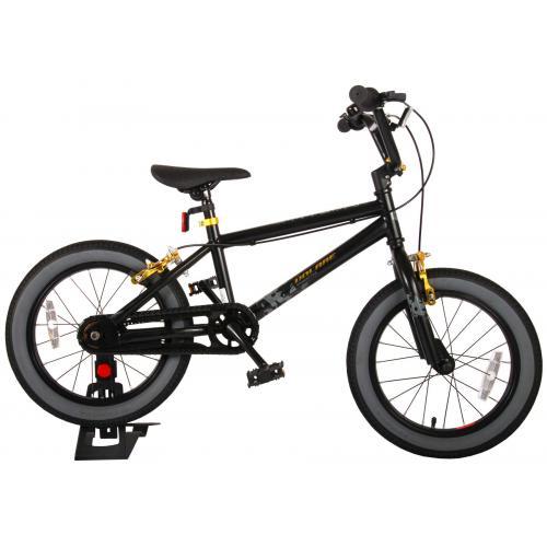 Vélo enfant Volare Cool Rider - Garçons - 16 pouces - Noir - 2 leviers de frein - assemblé à 95%