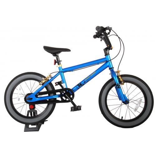 Vélo enfant Volare Cool Rider - Garçons - 16 pouces - bleu - 2 leviers de frein - assemblé à 95%