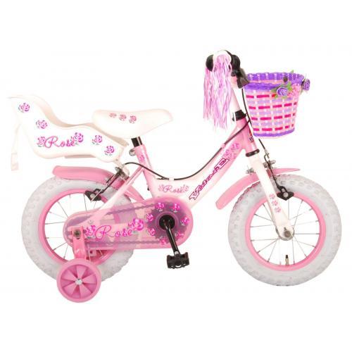 Volare Rose Vélo d'enfant - Filles - 12 pouces - Rose - 2 freins à main