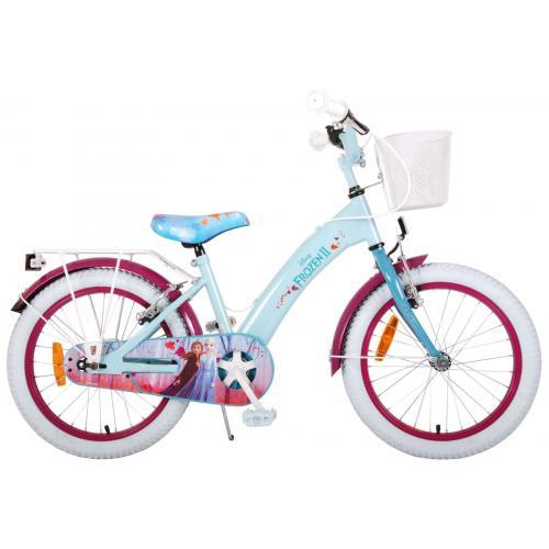 Vélo Disney Frozen 2 enfant - Filles - 18 pouces - Bleu/Violet - 2 leviers de frein