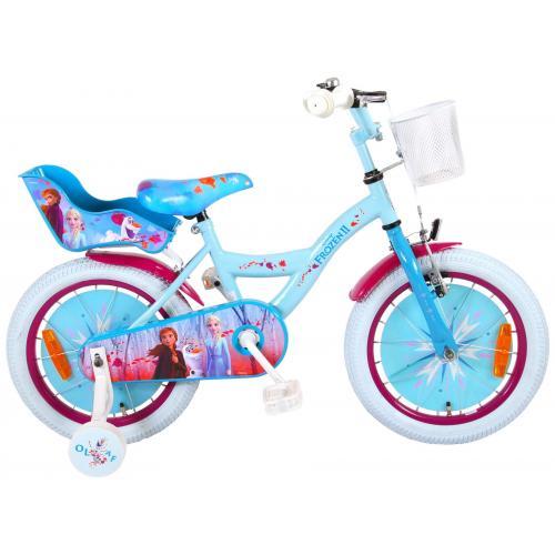Vélo enfant Disney La reine des neiges - Fille - 16 po - Bleu/Blanc/Mauvre - assemblé à 95%