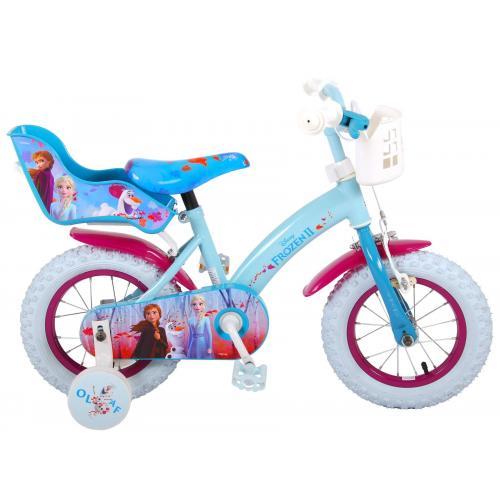 Vélo enfant Disney La reine des neiges 2 - fille - 12 po - bleu/mauve