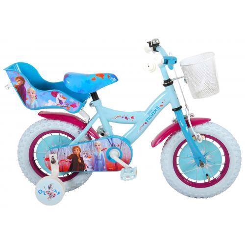 Vélo enfant Disney La reine des neiges 2 - fille - 12 po - bleu/mauve - assemblé à 95%
