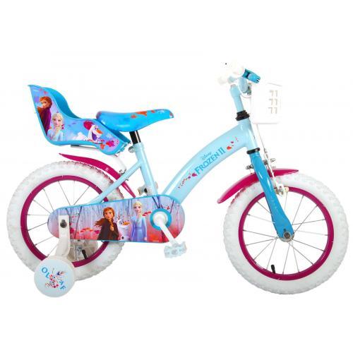 Vélo enfant Disney La reine des neiges 2 - fille - 14 po - bleu/mauve