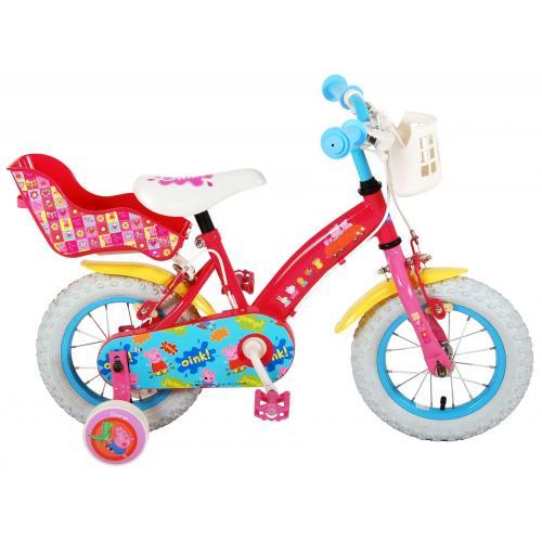 Vélo enfant Peppa Pig - fille - 12 po - rose - 2 leviers de frein