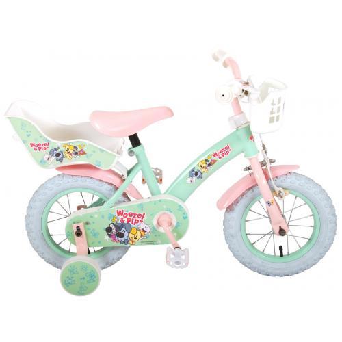 Vélo Woezel & Pip Kids - Filles - 12 pouces - Menthe/Rose