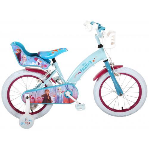 Vélo enfant Disney La reine des neiges 2 - Fille -16 po - Bleu/Mauve - 2 leviers de frein