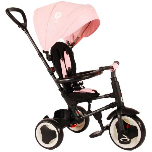 QPlay Tricycle Rito 3 en 1 - Filles - Rose - Deluxe