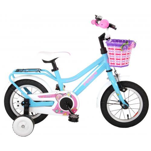 Volare Brilliant vélo pour enfants - Filles - 12 pouces - Bleu - 95% assemblé