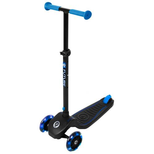 QPlay Future Scooter - Garçons et filles - Noir et bleu - Éclairage LED