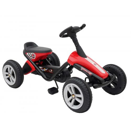 Volare Mini Go Kart - Garçons et filles - Rouge