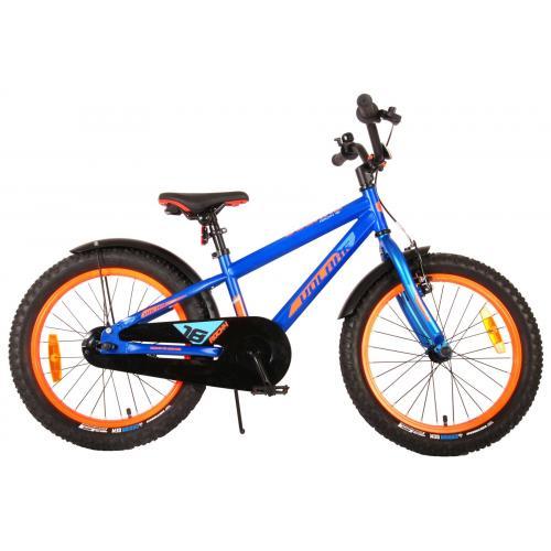 Volare Rocky Vélo enfant - 18 pouces - bleu - assemblé à 95% - Prime Collection