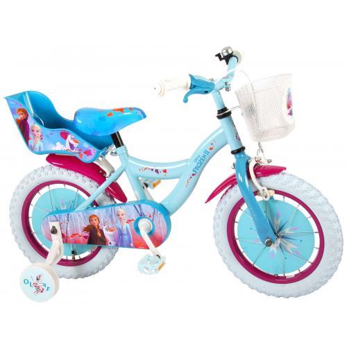 Vélo enfant Disney La reine des neiges  -, fille - 14 po - bleu/mauve - assemblé à 95%