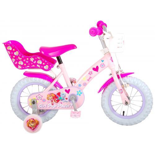 Vélo Paw Patrol Kids - Filles - 12 pouces - Rose