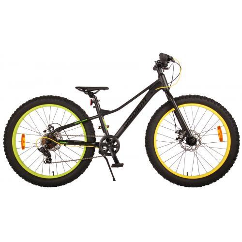 Volare Gradient Vélo pour enfants - Garçons - 24 pouces - Noir Vert Jaune - 7 vitesses - Prime Collection
