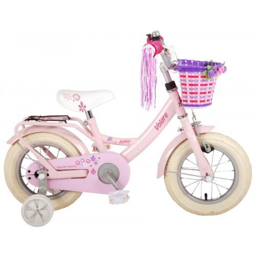 Vélo d'enfant Volare Ashley - Filles - 12 pouces - Rose - 95% assemblé