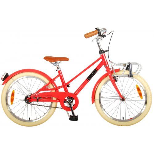 Vélo pour enfants Volare Melody - Filles - 20 pouces - rouge pastel - Prime Collection