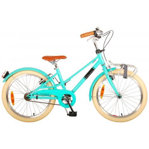 Vélo pour enfants Volare Melody - Filles - 20 pouces - turquoise - deux freins à main - Prime Collection