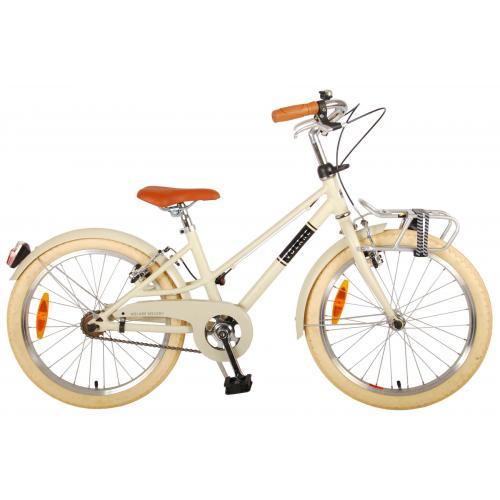 Vélo pour enfants Volare Melody - Filles - 20 pouces - sable - deux freins à main - Prime Collection