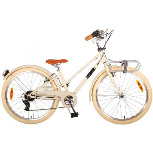 Vélo pour enfants Volare Melody - Filles - 24 pouces - sable - 6 vitesses - Prime Collection