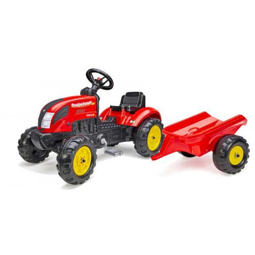 Falk Country Farmer - Garçons - Rouge - Tracteur