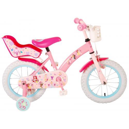 Vélo enfant Princesses Disney - fille - 14 po - rose