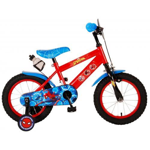 Vélo enfant Ultimate Spiderman - garçon - 14 po - rouge/bleu