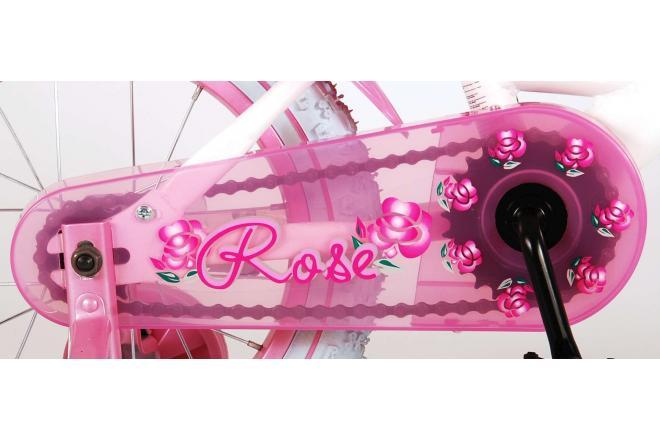 Vélo enfant Volare Rose - fille - 14 po - rose/blanc - assemblé à 95%