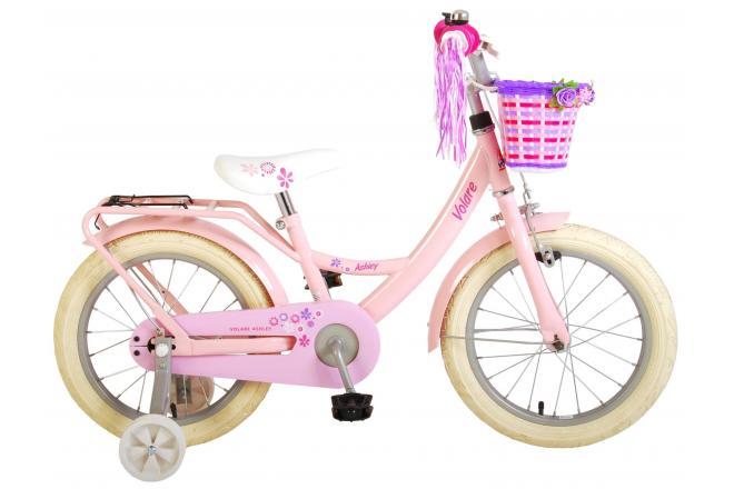 Vélo d'enfant Volare Ashley - Filles - 14 pouces - Rose - 95% assemblé