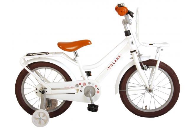 Volare Liberty Bicyclette pour enfants - Filles - 14 pouces - Blanc - 95% assemblé