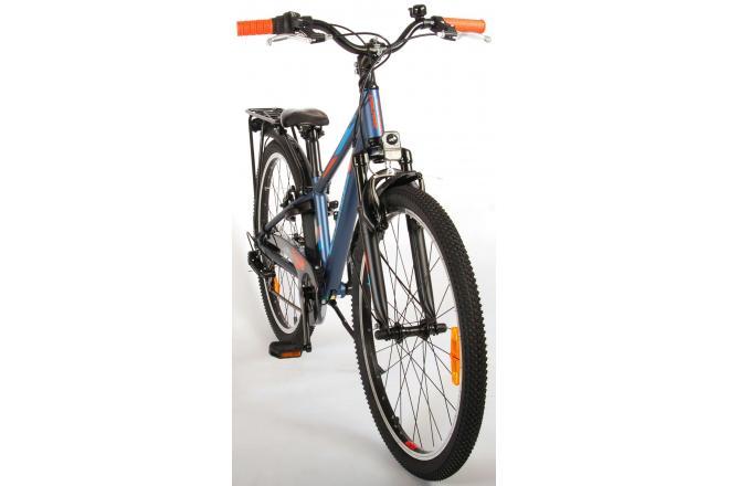 Volare Cross Bicyclette pour enfants - Garçons - 24 pouces - Bleu Vert - 6 vitesses - Prime Collection